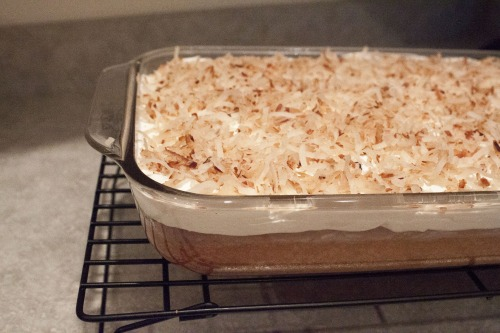 Heavenly Coconut Poke Cake